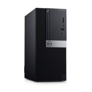 Настолен компютър Dell OptiPlex 7071 MT (#DELL02614), осемядрен Coffee Lake Intel Core i7-9700 3.0/4.7 GHz, Nvidia GeForce GTX 1660 6GB, 16GB DDR4, 256GB SSD & 1TB HDD, 1x USB 3.1 Gen 2 Type-C, клавиатура и мишка, Windows 10 Pro image