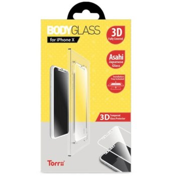Протектор от закалено стъкло /Tempered Glass/ Тorrii BodyGlass IP8-BDG-05, Apple iPhone XS, iPhone X image
