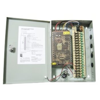Захранващ блок, 12V/12A, 18 изхода със защита image