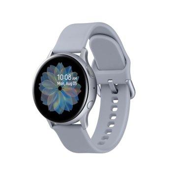 Смарт часовник Samsung Galaxy Watch Active2 SM-R830N (SM-R830NZSABGL), до 95 часа време за работа, алуминиев, сребрист image