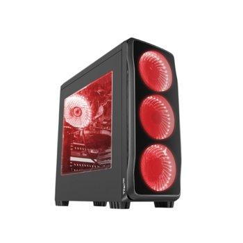 Кутия Genesis Titan 750 Red, ATX, micro-ATX, mini-ITX, 1x USB 3.0, 2x USB 2.0, черна, без захранване image