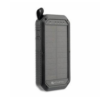 Външна батерия /power bank/ 4smarts Solar Power Bank TitanPack, 8000mAh, черна, соларна image