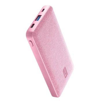 Външна батерия /power bank/ Cellularline Shade (PBSTYLE10000P), 10000mAh, 1x USB-A, 1x USB-C, розова image
