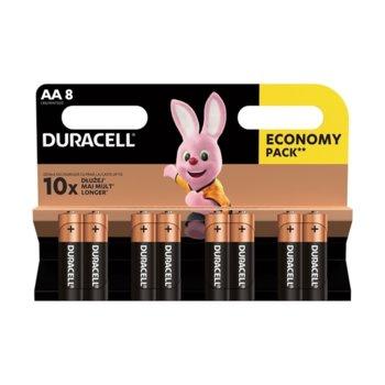 Батерия алкална Duracell, AA, LR6, 1.5V, 8 бр. image