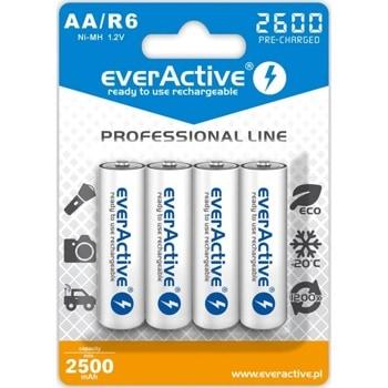 Батерии никел-металхидридни everActive Professional AA, R6, 1.2V, 2600mAh, 4бр image