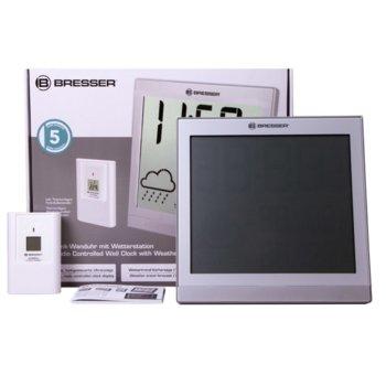 Електронна метеостанция Bresser TemeoTrend JC LCD, вътрешна и външна температура, вътрешна и външна влажност, сребриста image