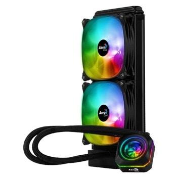 Водно охлаждане за процесор AeroCool Pulse L240 F, съвместимо с LGA 2066/2011-V3/115X/775/1200 & AMD FM1/FM2/AM4/AM3+/AM3/AM2+/AM2 image