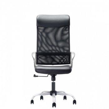 Работен стол Opala HB steel, дамаска, люлеещ механизъм, хромирана петлъчева основа image
