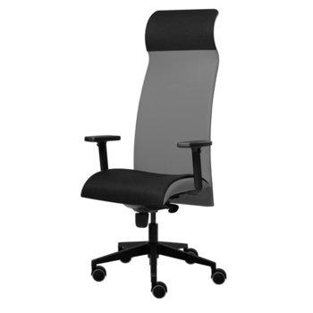 Президентски стол Tronhill Solium Executive (ON4010200075), дамаска и меш, 120 кг. максимално натоварване, 5 заключващи се работни позиции, светлосив image