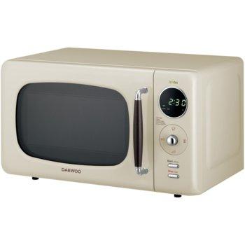 Микровълнова фурна Daewoo KOR-669RC, електронно управление, 800W, 20L обем, функция Zero & On, LED дисплей, 5 степени на мощност, бяла image
