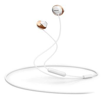 Слушалки Philips SHB4205WT, Bluetooth, микрофон, управление на разговорите, бели image