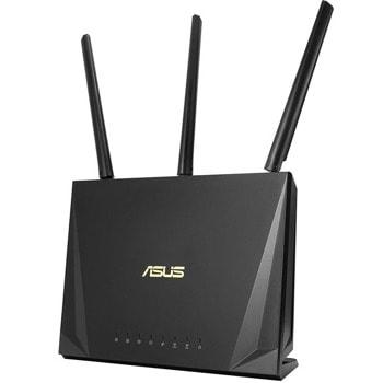 Рутер Asus RT-AC85P, 2400Mbps, 2.4GHz(600Mbps), 5GHz(1733Mbps), Wireless AC, 4x LAN 10/100/1000 Mbps, 1x WAN 10/100/1000, 1x USB 3.1 Gen 1, 3x външни антени, 1x вътрешна антена image