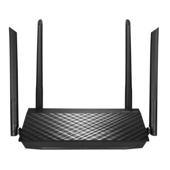 Рутер Asus RT-AC59U V2, 1500Mbps, MU-MIMO, 2.4GHz(600 Mbps) / 5GHz(867 Mbps), Wireless AC, 4x LAN1000, 1x WAN1000, USB 2.0, 4x външни антени image