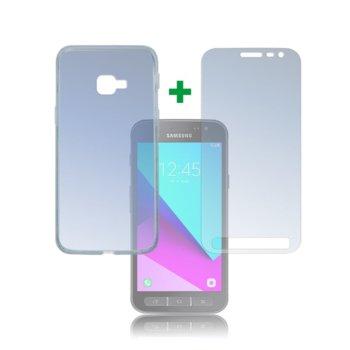 Протектор от закалено стъкло /Tempered Glass/, 4smarts, за Samsung Galaxy Xcover 4, силиконов (TPU) кейс image