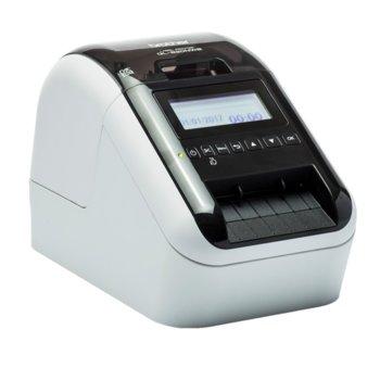 Етикетен принтер Brother QL-820NWB, директен термопечат, LCD дисплей, макс. ширина на етикета 62mm, Lan100, Bluetooth, Wi-Fi, USB image