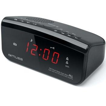 Радио Muse M-12 CR, аларма, FM, LED дисплей, черно image