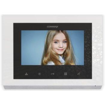 """Цветен Видеодомофон Commax CMV-70S-W, цветен, 7.0""""(17.78 cm) TFT Wide Screen екран, до 2 камери/2 монитора/ 2 интерфона image"""