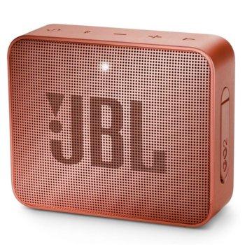 Тонколона JBL GO 2, 1.0, 3W RMS, 3.5mm jack/Bluetooth, светлокафява, до 5 часа работа, IPX7 image