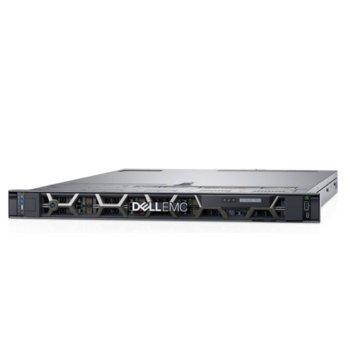 Сървър Dell PowerEdge R440 (PER440CEEM03), десетядрен Cascade Lake Intel Xeon Silver 4210 2.2/3.2 GHz, 16GB DDR4 RDIMM, 480GB SSD, 2x 1GbE LOM, 3x USB 3.0, без ОС, (1+1) 550W PSU image