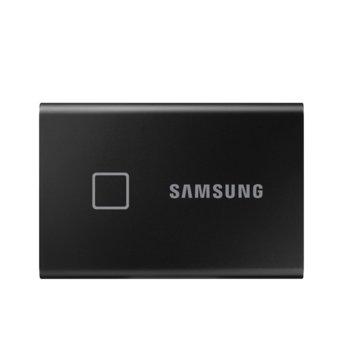 Памет SSD 1TB, Samsung T7 TOUCH, външен, USB 3.2 Type-C, скорост на четене 1050 MB/s, скорост на запис 1000 MB/s image