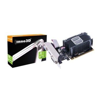 Видео карта Nvidia GeForce GT 730, 2GB, Inno3D GeForce GT730, PCI-E 3.0, SDDR3, 128bit, HDMI, DVI, VGA image