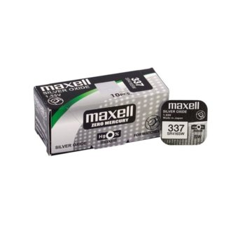Батерия сребърна Maxell SR416SW 337, SR41, 1.55V, 1бр, image