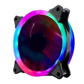 Вентилатор 120mm Makki MAKKI-FAN120-RGB-2R-6P, 6-pin, 1100rpm, RGB подсветка image
