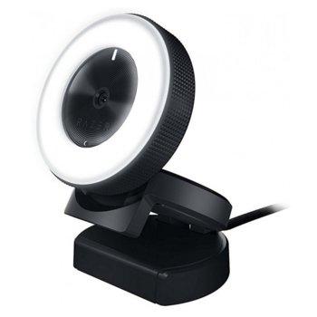 Уеб камера Razer Kiyo, микрофон, 2688x1520, 1080p/30FPS, 12 лед диода, USB 2.0, черна image
