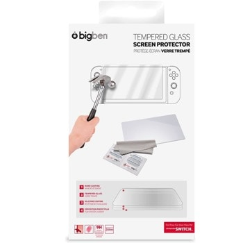 Протектор от закалено стъкло /Tempered Glass/ BigBen TG, за Nintendo Switch image