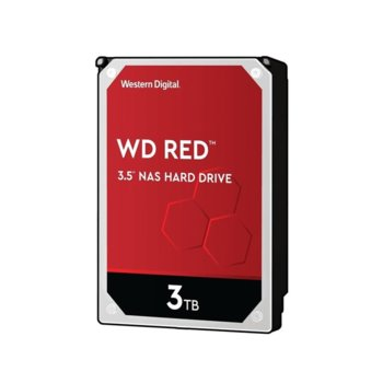 "Твърд диск 3TB WD Red NAS, SATA 6Gb/s, 5400 rpm, 256MB, 3.5""(8.89 cm) image"