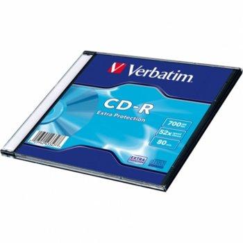 Оптичен носител CD-R media 700MB, Verbatim, 52x, 1бр. image
