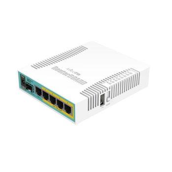 Рутер Mikrotik RB960PGS, 5x LAN 100/1000, 1x SFP, 128MB RAM image