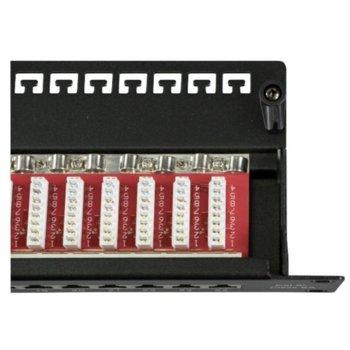 """Пач панел EFB Elektronik 37666SW.1M, 24x порта, 19"""", 1U, екраниран, Cat.6A IDC T568A/T568B, FTP, черен image"""