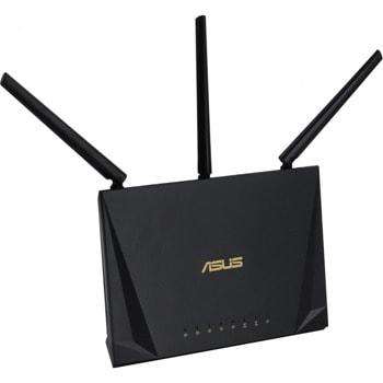 Рутер Asus RT-AC65P, 1750Mbps, 2.4GHz(450Mbps)/ 5GHz(1300Mbps), Wireless AC, 4x LAN1000Mbps, 1x WAN1000, 1x USB 3.1 Gen 1, 3x външни антени image