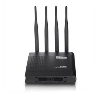 Рутер Netis WF-2471, 600Mbps, 2.4GHz/5GHz, Wireless N, 4x LAN 100, 1x WAN 100, 4x външни антени image