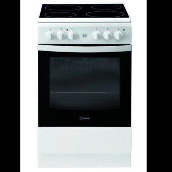 Готварска печка Indesit IS5V8GMW/E, клас А, 58 л. общ обем, 4 котлона, 8 фукнции на фурната, механичен таймер, бяла image