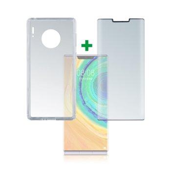 Протектор от закалено стъкло /Tempered Glass/, 4smarts, за Huawei Mate 30 Pro, Mate 30 Pro 5G, силиконов (TPU) кейс image