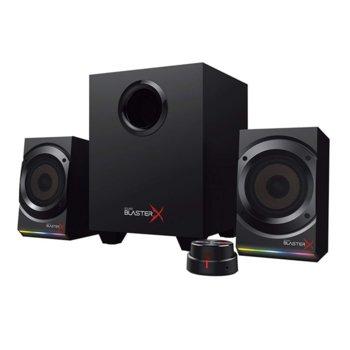 Тонколони Creative Sound BlasterX Kratos S5, 2.1, 60W (36 W + 2x 12 W) RMS, USB, черни image