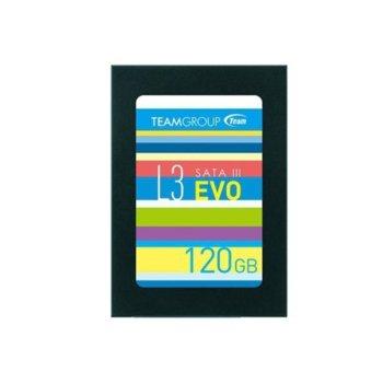 """Памет SSD 120GB TeamGroup L3 EVO, SATA 6Gb/s, 2.5""""(6.35 cm), скорост на четене 530MB/s, скорост на запис 400MB/s image"""