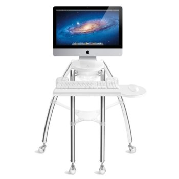 """Поставка за компютър Rain Design iGo, за iMac 21.5"""" (54.61 cm), поставка за клавиатура и мишка, подсветка в бяло image"""