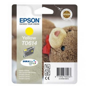 ГЛАВА ЗА EPSON STYLUS D88 Photo Editon /D68Pe/D88PE/DX4800/DX4850/DX4200/DX3800/DX3850 - Yellow - P№ C13T061440 - заб.: 8ml. image