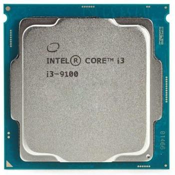 Процесор Intel Core i3-9100, четириядрен (3.6GHz/4.2GHz, 6MB, 1100MHz графична честота, FCLGA1151) Tray, без охлаждане image