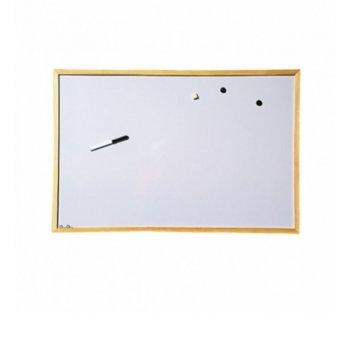 Магнитна дъска, с дървена рамка, размер 900x1200 mm, бяла image