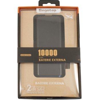 Външна батерия /power bank/ Segotep SG-P2, 10000mAh, micro USB, USB, черен image