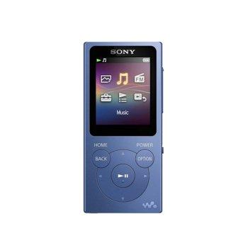 MP4 плейър Sony NW-E394, 8GB, USB, син image
