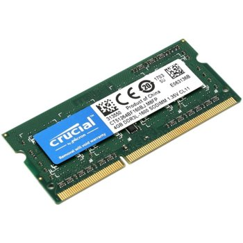 Памет 4GB DDR3L 1600Mhz SO-DIMM, Crucial,1.35V Single Ranked image