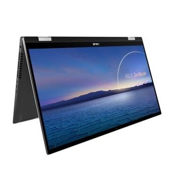 "Лаптоп Asus ZenBook Flip 15 UX564EI-EZ711R (90NB0SB1-M01250), четириядрен Tiger Lake Intel Core i7-1165G7 2.8/4.7 GHz, 15.6"" (39.62 cm) Full HD Touchscreen Glare Display & GF GTX 1650 Ti 4GB, (HDMI), 16GB DDR4, 512GB SSD, 2x Thunderbolt 4, Windows 10 image"