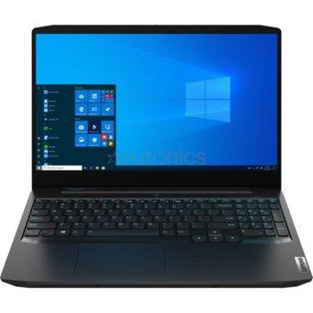 "Лаптоп Lenovo IdeaPad Gaming 3 15ARH05 (82EY009TRM)(черен), шестядрен AMD Ryzen 5 4600H 3.0/4.0GHz, 15.6"" (39.62 cm) Full HD IPS Anti-Glare Display & GF GTX 1650 Ti 4GB, (HDMI), 8GB DDR4, 256GB SSD, 1x USB 3.1 Type C, FreeDOS  image"