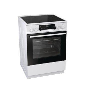 Готварска печка Gorenje EC6341WC, 4 стъклокерамични нагревателни зони, 67 л. обем, система за сигурност, AquaClean почистване, бяла image