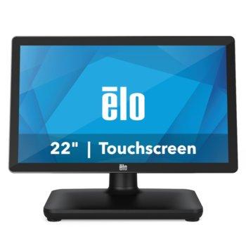 """Тъч компютър Elo E937720 EPS22H5-2UWA-1-MT-8G-1S-W1-64-BK, шестядрен Coffee Lake Intel Core i5-8500T 2.1/3.5 GHz, 21.5"""" (54.61 cm) Full HD Anti-Glare Touchscreen Display, 8GB DDR4, 128GB SSD, 3x USB 3.0, Windows 10 image"""